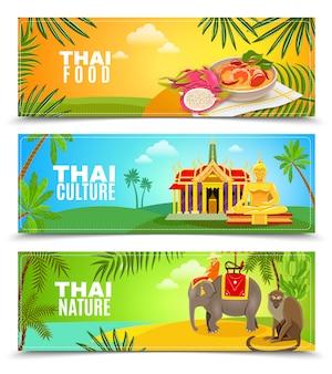 Banners horizontales de tailandia