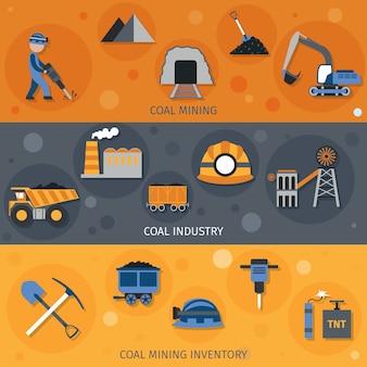 Banners de la industria del carbón