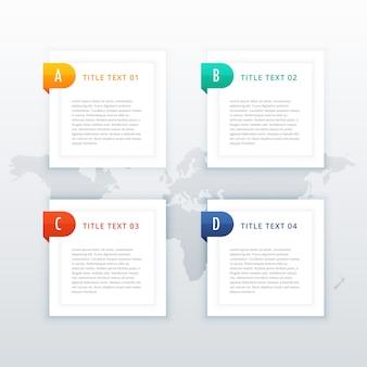 Banners de infografía con cuatro pasos