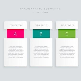 Banners de infografía modernas