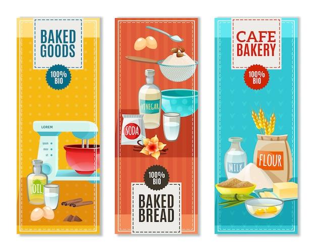 Banners de ingredientes para hornear