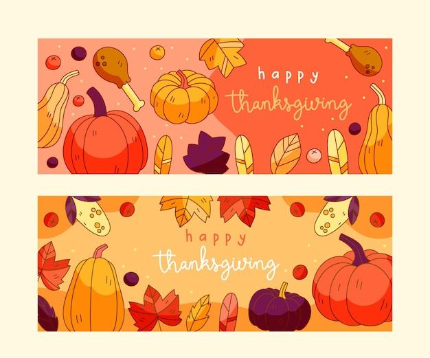 Banners de instagram del día de acción de gracias