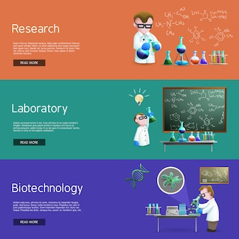 Banners de investigación científica