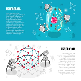 Banners isométricos de nano robots