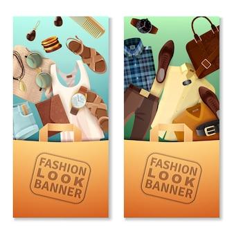 Banners de look de moda