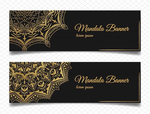 Banners de mandala elegantes