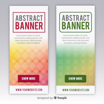 Banners modernos con diseño abstracto