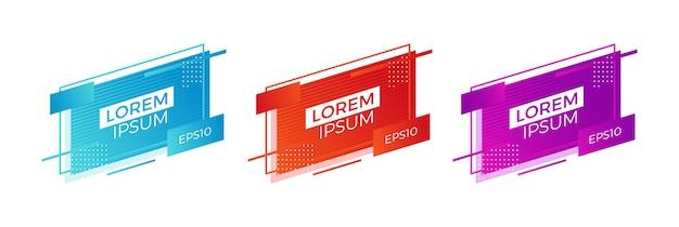 Banners modernos geométricos para la venta