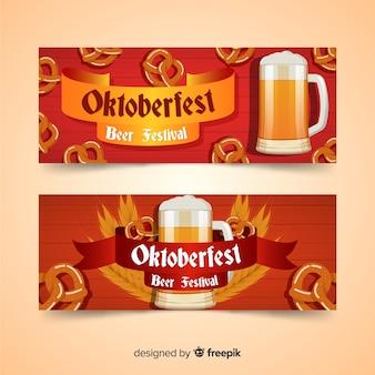Banners modernos del oktoberfest