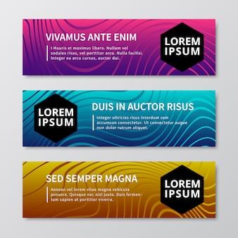 Banners de motion graphics