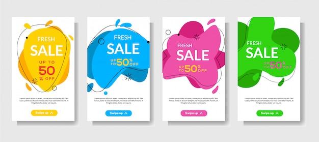 Banners móviles dinámicos modernos fluidos para la venta