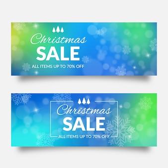 Banners de navidad borrosa venta