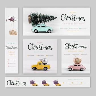 Banners de navidad con foto