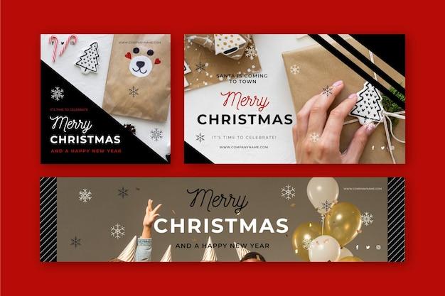 Banners navideños con foto