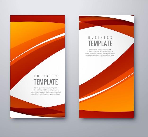 Banners ondulados coloful abstractos conjunto ilustración vectorial