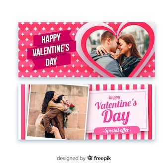 Banners online de san valentín