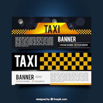 Banners oscuros de taxi