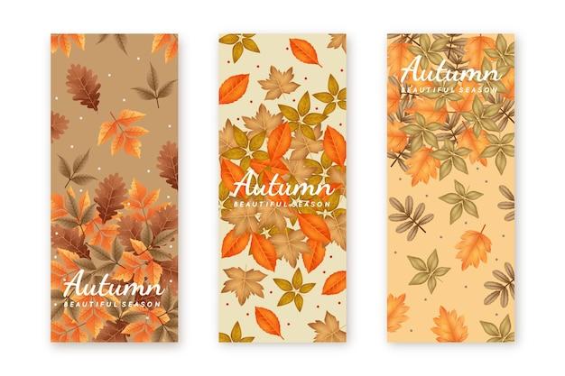 Banners de otoño realistas