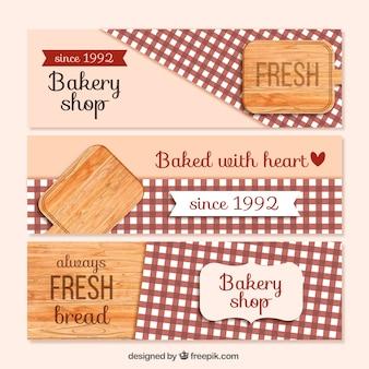 Banners de panadería bonitos