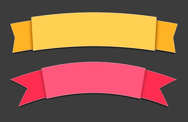 Banners de papel de colores