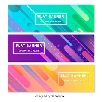 Banners planos