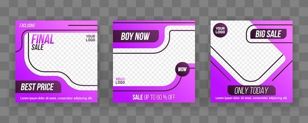 Banners de plantilla de publicación editable