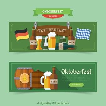 Banners con productos alemanes para el oktoberfest