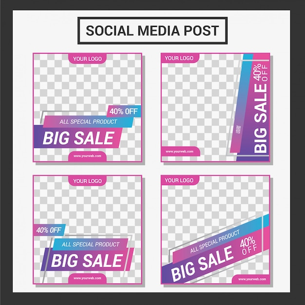 Banners de promoción de venta