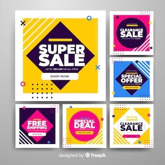 Banners promocionales cuadrados