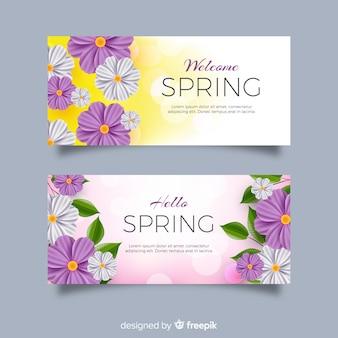 Banners realistas de primavera