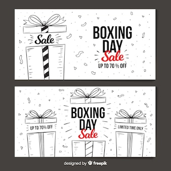 Banners de rebajas boxing day