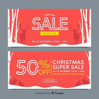 Banners de rebajas de navidad