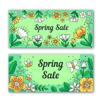 Banners de rebajas de primavera