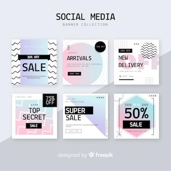 Banners de rebajas para redes sociales