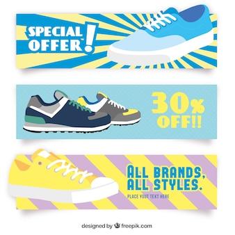 Banners de rebajas de zapatos