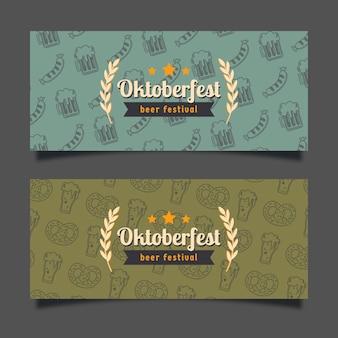 Banners retro de la oktoberfest