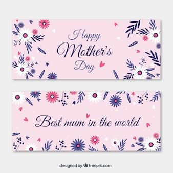 Banners rosas del día de la madre