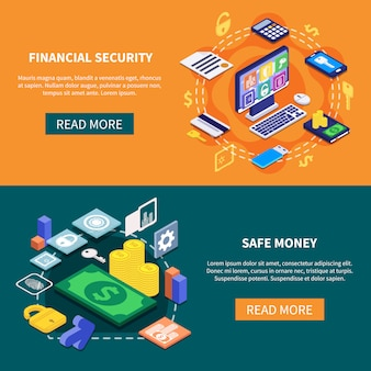 Banners de seguridad financiera