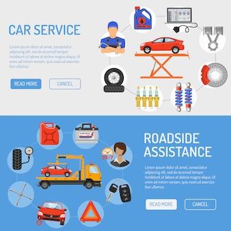 Banners de servicio de coche