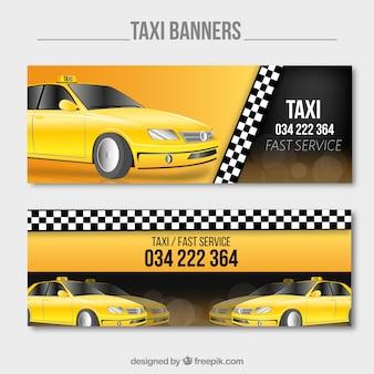 Banners de servicio de taxi