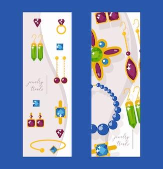 Banners del sitio web de la joyería