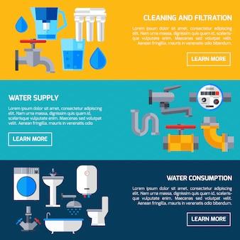 Banners de suministro de agua