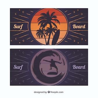Banners de tablas de surf
