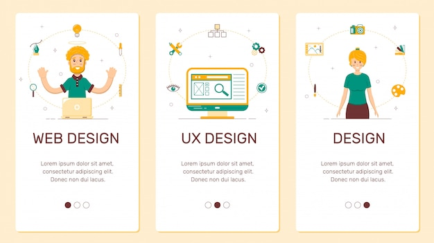 Banners para teléfono, diseño, ux.