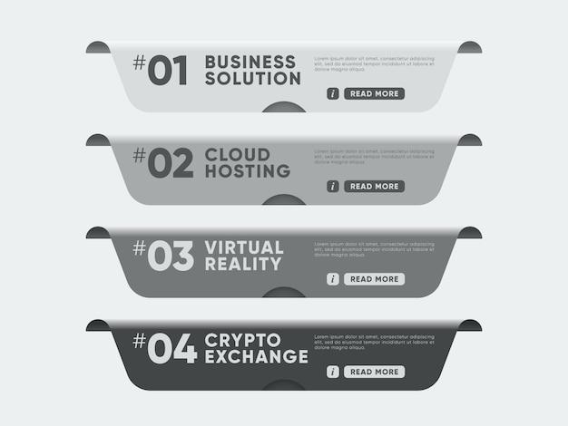 Banners con temas para el sitio web