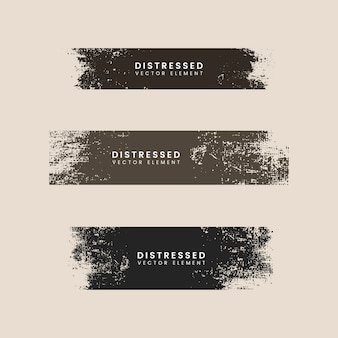 Banners de textura de trazo angustiado