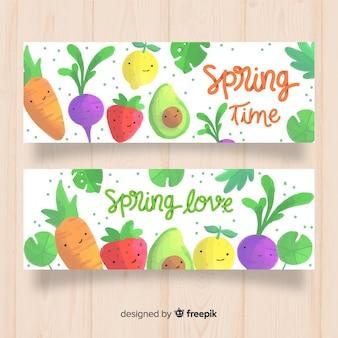 Banners de tiempo de primavera