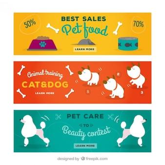 Banners de tienda de mascota