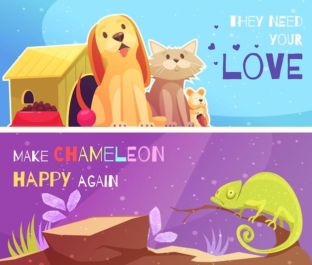 Banners de tiendas de mascotas