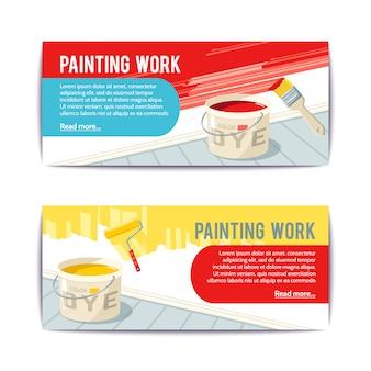 Banners de trabajos de pintura